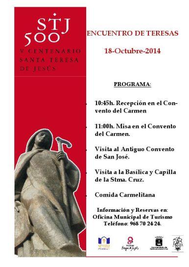Copia de Encuentro de Teresas. 18 Octubre 2014-definitivo